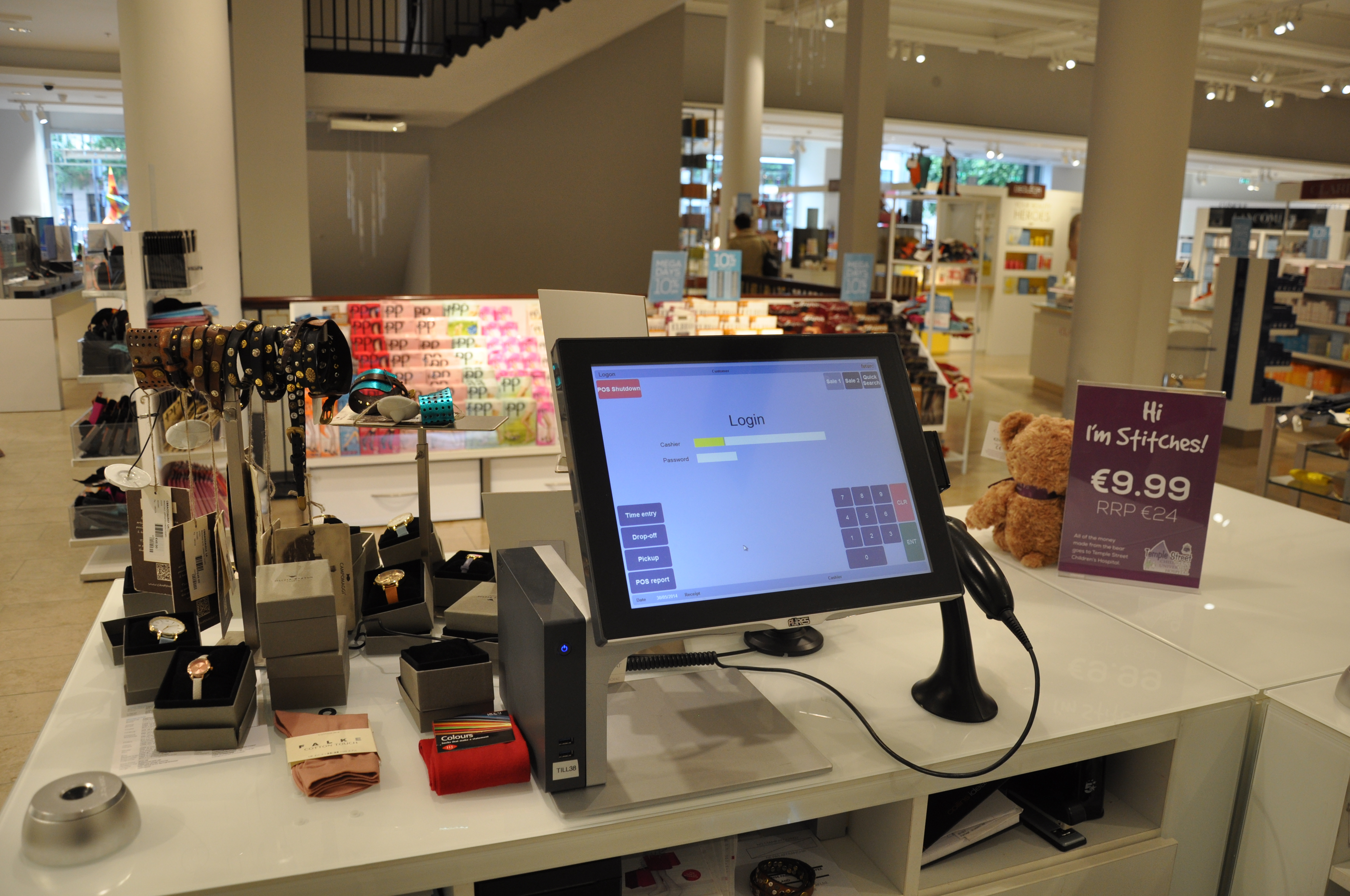 AURES' sangos using Futura's EPoS solution in use in Clerys